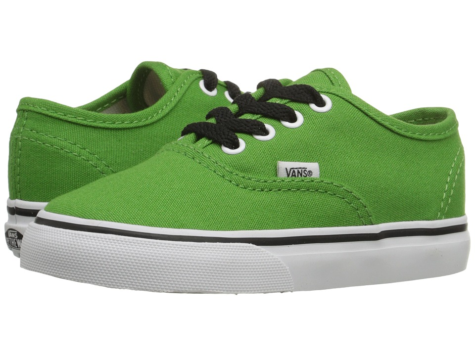 Vans Kids - Authentic (Toddler) (Online Lime/True White) Boys Shoes