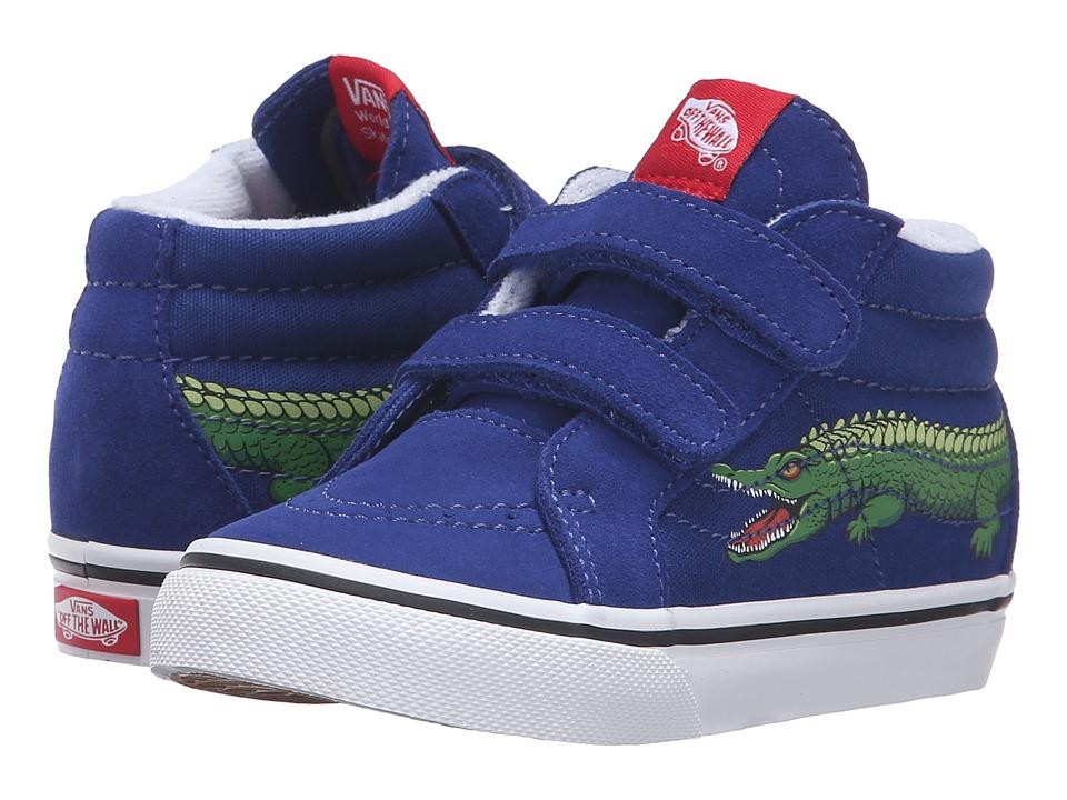 Vans Kids - Sk8-Mid Reissue V (Toddler) ((Reptile Sidestripe) Crocodile/Sodalite Blue) Boys Shoes