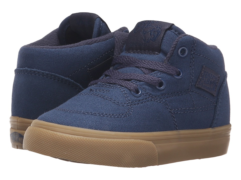 Vans Kids - Half Cab (Toddler) ((Gumsole) Insignia Blue/Parisian Night) Boys Shoes