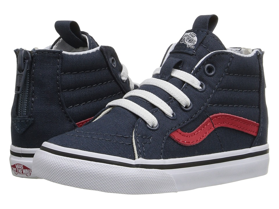 Vans Kids - Sk8-Hi Zip (Toddler) ((Varsity) Navy/True White) Boys Shoes