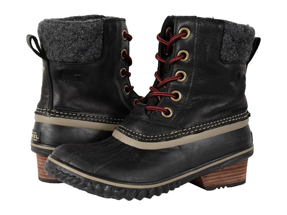 Sorel Slimpack II Lace (Black) Women's Waterproof Boots