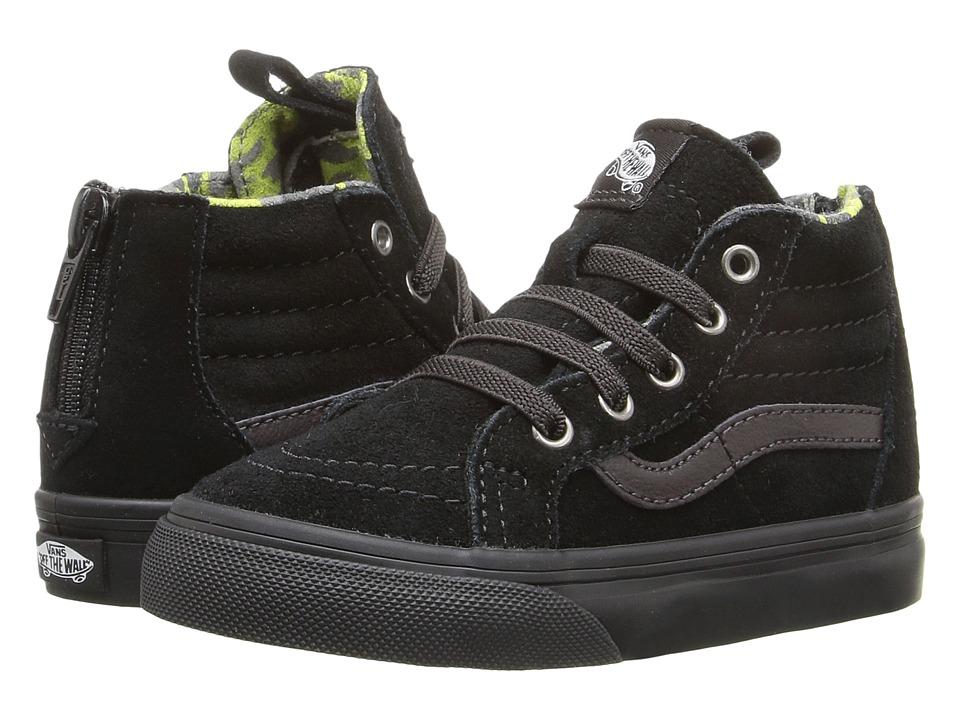 Vans Kids - Sk8-Hi Zip (Toddler) ((MTE) Black/Lime Punch) Boys Shoes
