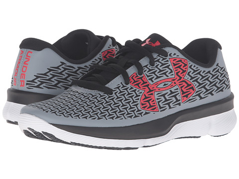 Under Armour Kids UA BGS Clutchfit Rebelspeed (Big Kid) - Steel/Black/Anthem Red