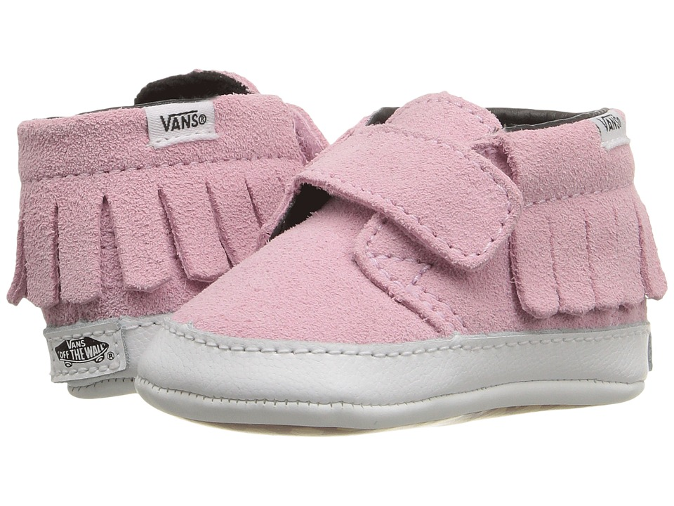 Vans Kids - Chukka V Moc Crib (Infant/Toddler) ((Suede) Pink Mist) Girls Shoes