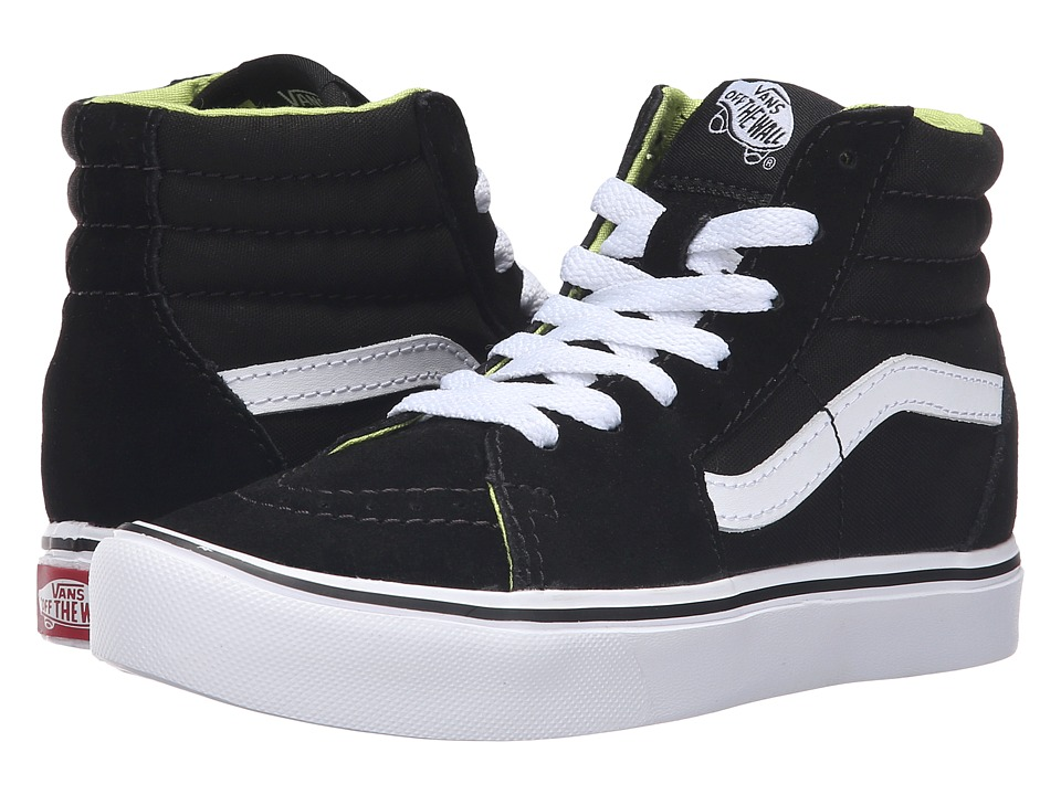 Vans Kids Sk8-Hi Lite (Little Kid/Big Kid) ((Basic) Black/White) Boys Shoes