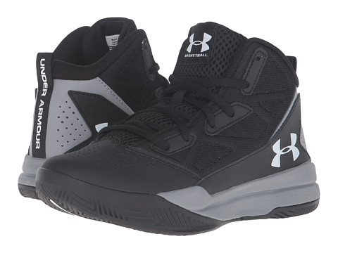 Under Armour Kids UA BGS Jet Mid (Big Kid) - Black/Steel/White