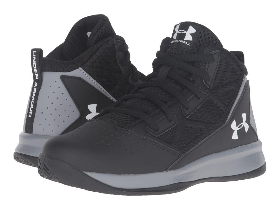 Under Armour Kids UA BPS Jet Mid (Little Kid) (Black/Steel/White) Boys Shoes