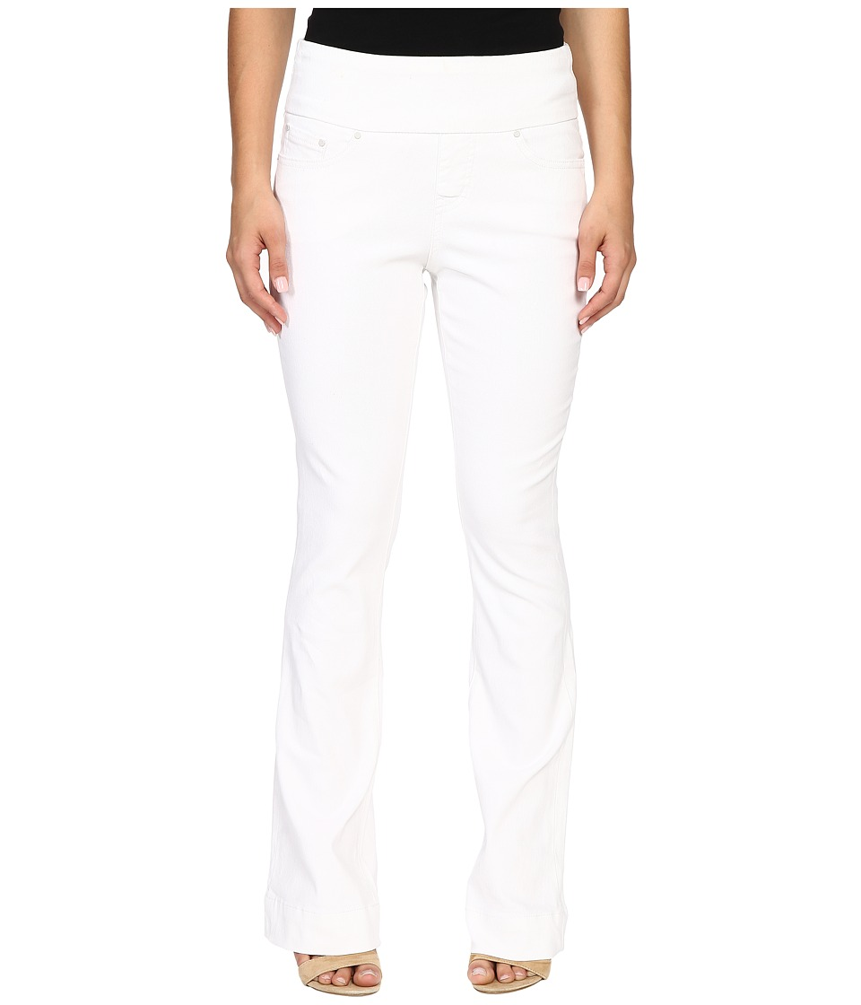 Jag Jeans Petite Petite Ella Flare Jeans in White White Womens Jeans