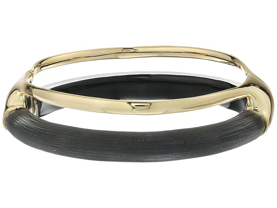Alexis Bittar Double Band Liquid Hinge Bracelet Black Bracelet