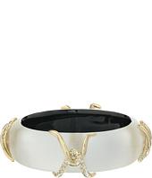 Alexis Bittar - Crystal Pave Liquid Metal X Motif Hinge Bracelet