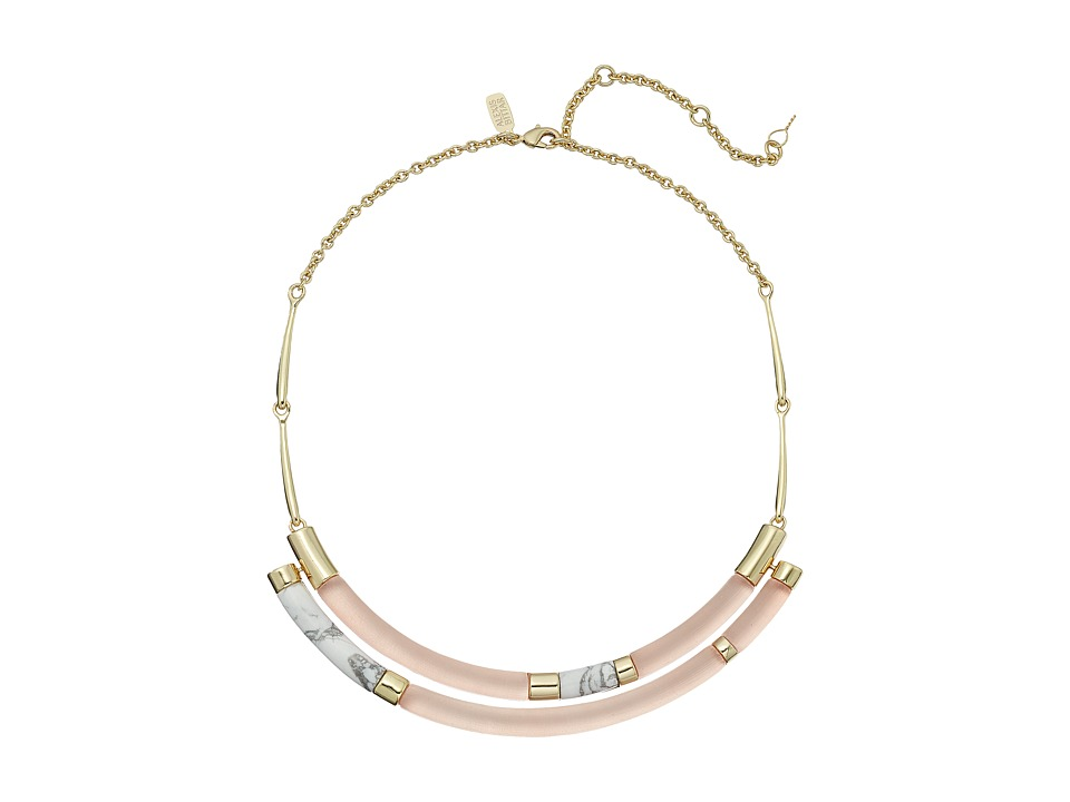 Alexis Bittar Small Color Blocked Crescent Bib Necklace Sunset Necklace