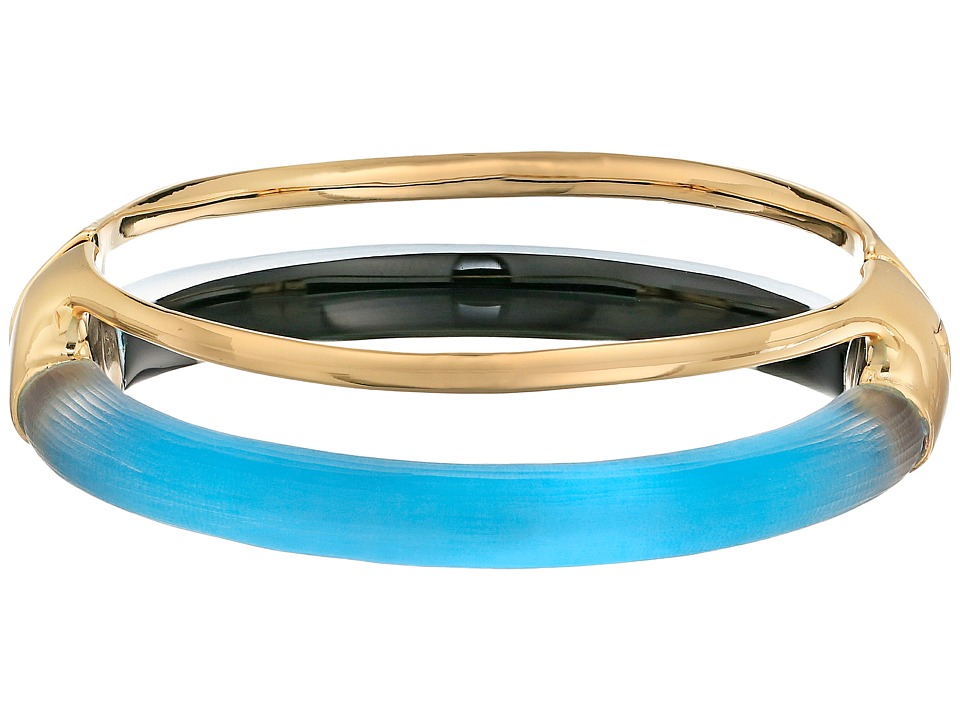 Alexis Bittar Double Band Liquid Hinge Bracelet Azure Bracelet