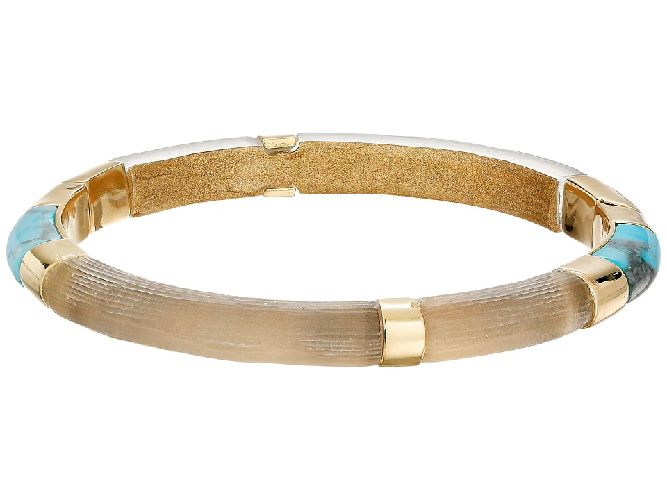 Alexis Bittar Color Blocked Hinged Bangle Warm Grey Bracelet