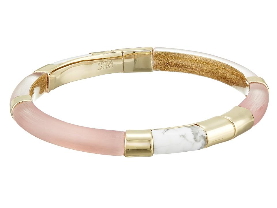 Alexis Bittar Color Blocked Hinged Bangle Sunset Bracelet