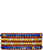 Chan Luu - 32' Blue Mix/Natural Brown Wrap Bracelet
