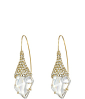 Alexis Bittar - Pave Encrusted Fancy Cut Shield Infinity Wire Earrings