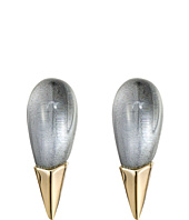 Alexis Bittar - Liquid Metal Capped Spike Post Clear Lucite Earrings