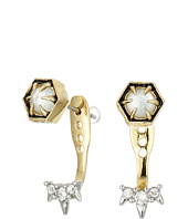 Alexis Bittar - Mini Enamel Accented Post w/ Encrusted Spike Ear Jacket Earrings