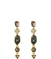 Alexis Bittar - Dangling Post with Pave Shield, Enamel Accents and Custom Cut Stones Earrings