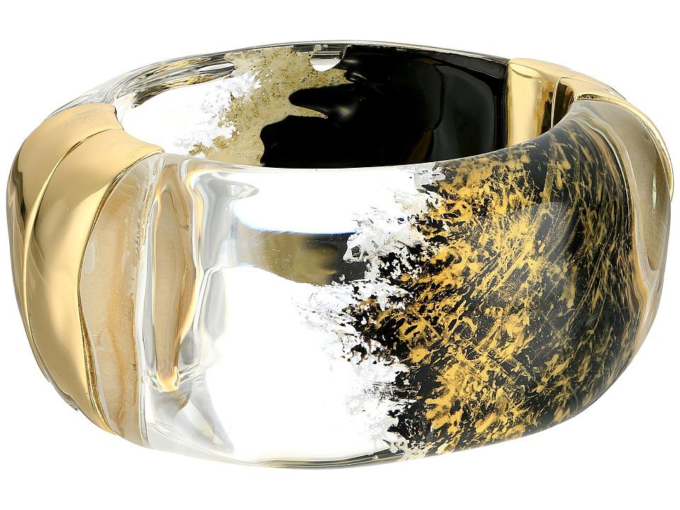Alexis Bittar Liquid Side Hinge Bracelet Gold Lame Bracelet