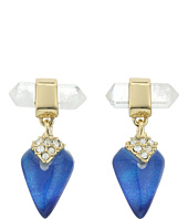 Alexis Bittar - Mini Rock Crystal Post Drop Earrings