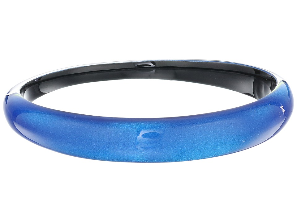 Alexis Bittar Tapered Bangle Bracelet Iridescent Cobalt Clear Bracelet