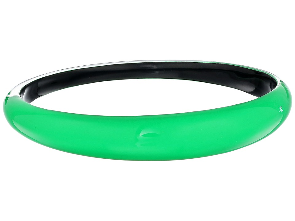 Alexis Bittar Tapered Bangle Bracelet Opaque Lime Clear Bracelet