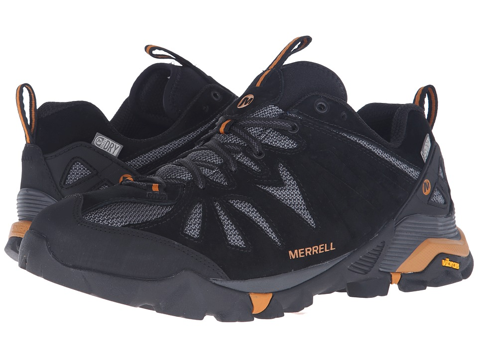 Merrell - Capra Waterproof (Black/Orange) Men