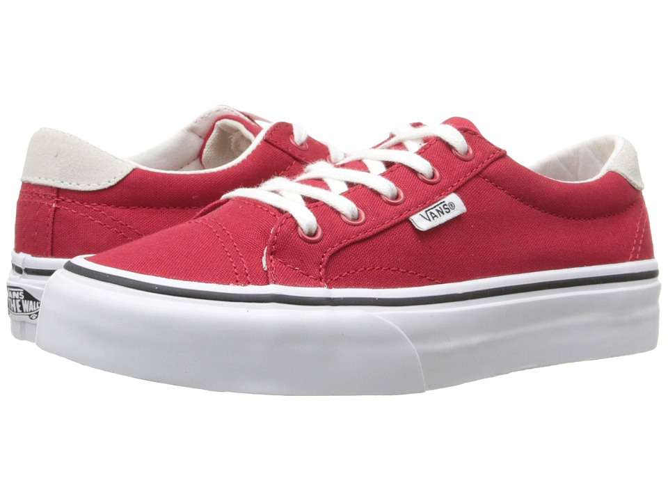 Vans Kids Court Little Kid/Big Kid Canvas Racing Red Girls Shoes