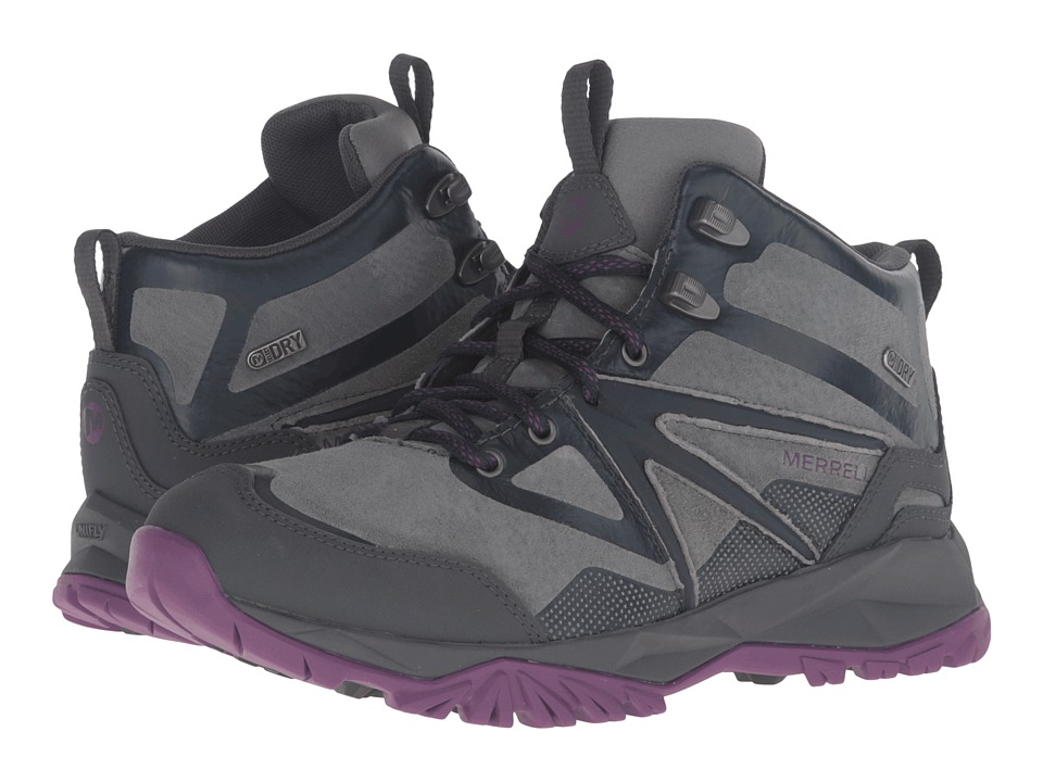 Merrell - Capra Bolt Leather Mid Waterproof (Grey/Purple) Women