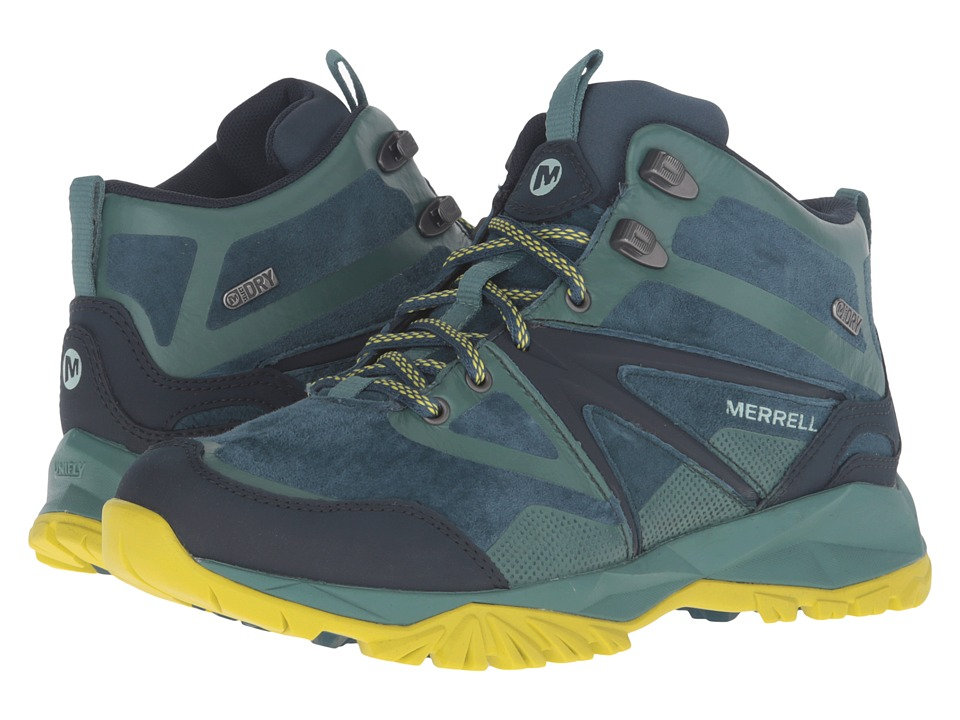 Merrell - Capra Bolt Leather Mid Waterproof (Sagebrush Green) Women