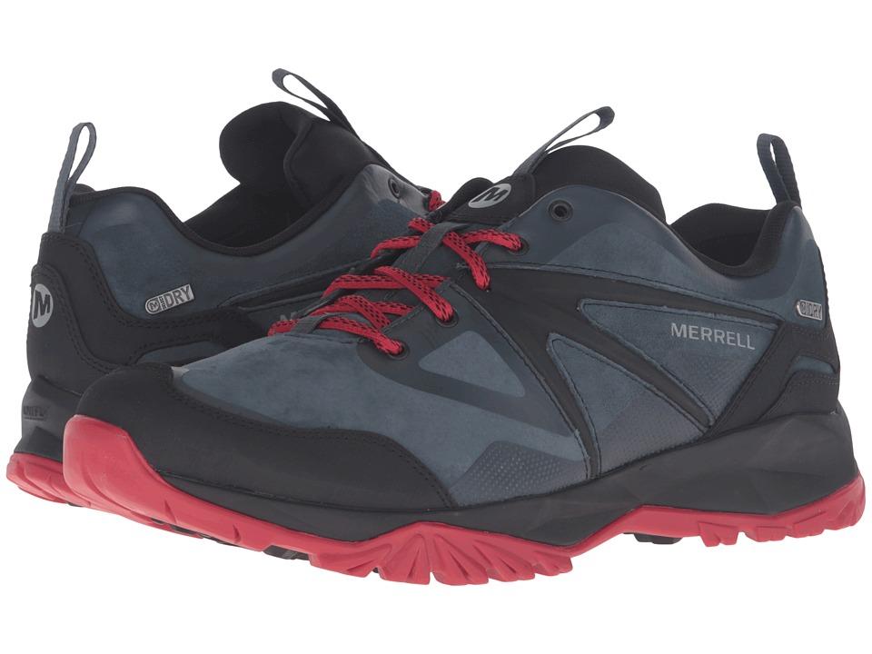 Merrell - Capra Bolt Leather Waterproof (Navy) Men