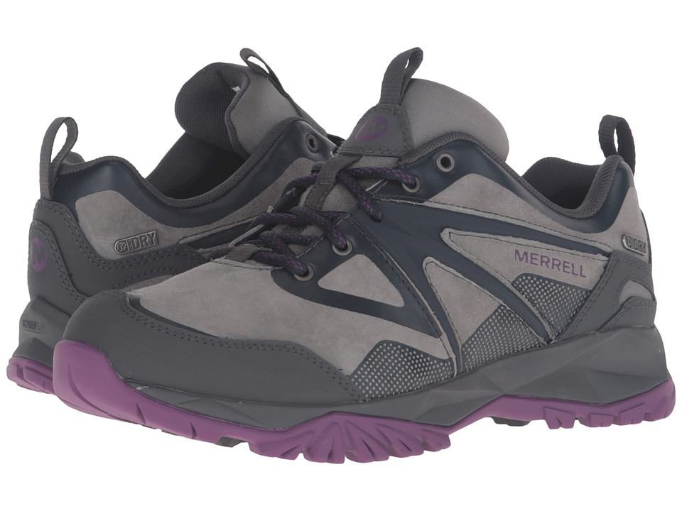 Merrell - Capra Bolt Leather Waterproof (Grey/Purple) Women