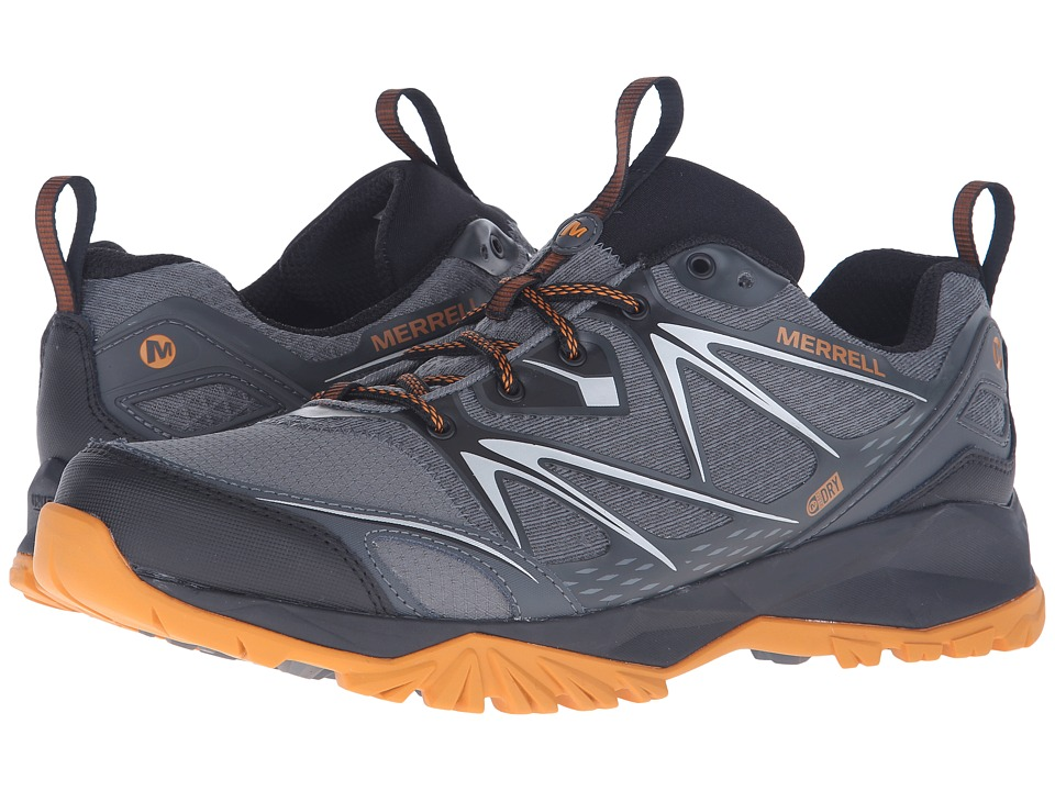 Merrell - Capra Bolt Waterproof (Grey/Orange) Men
