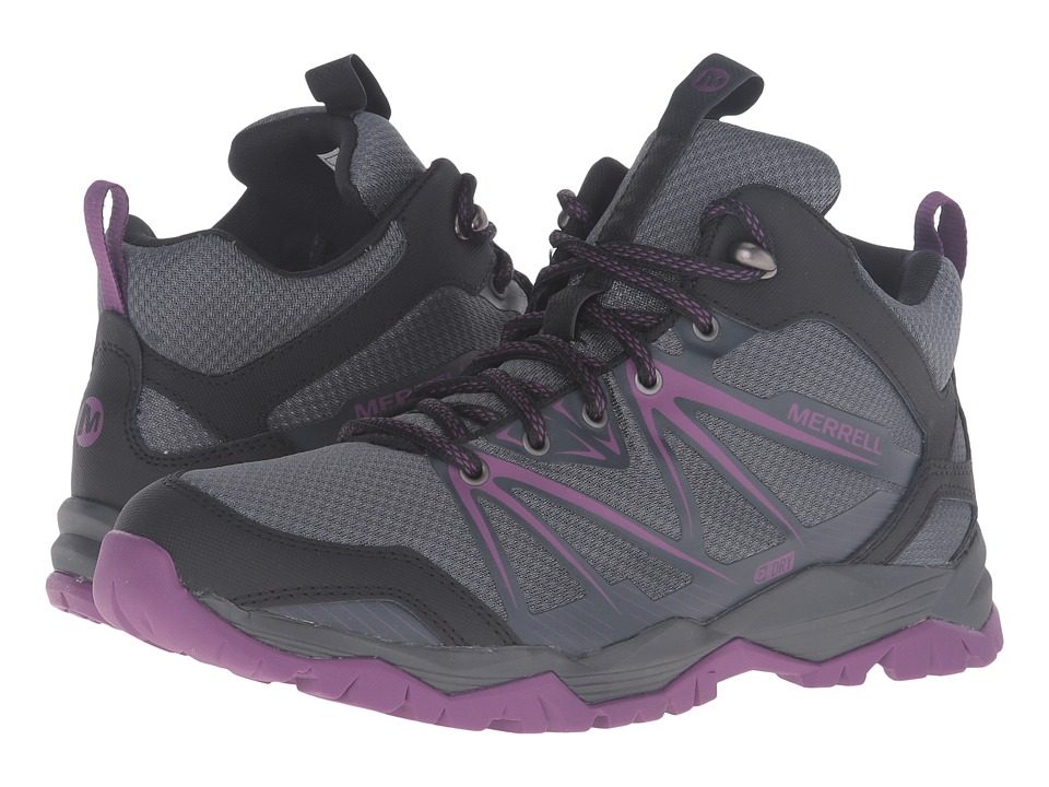 Merrell - Capra Rise Mid Waterproof (Grey/Purple) Women
