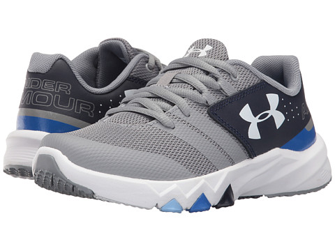Under Armour Kids UA BGS Primed (Big Kid) - Steel/Midnight Navy/White