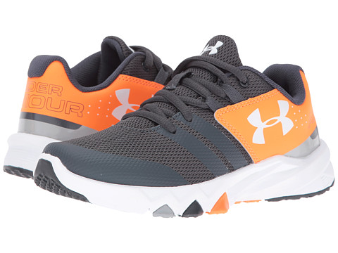 Under Armour Kids UA BPS Primed (Little Kid) - Stealth Gray/Blaze Orange/White