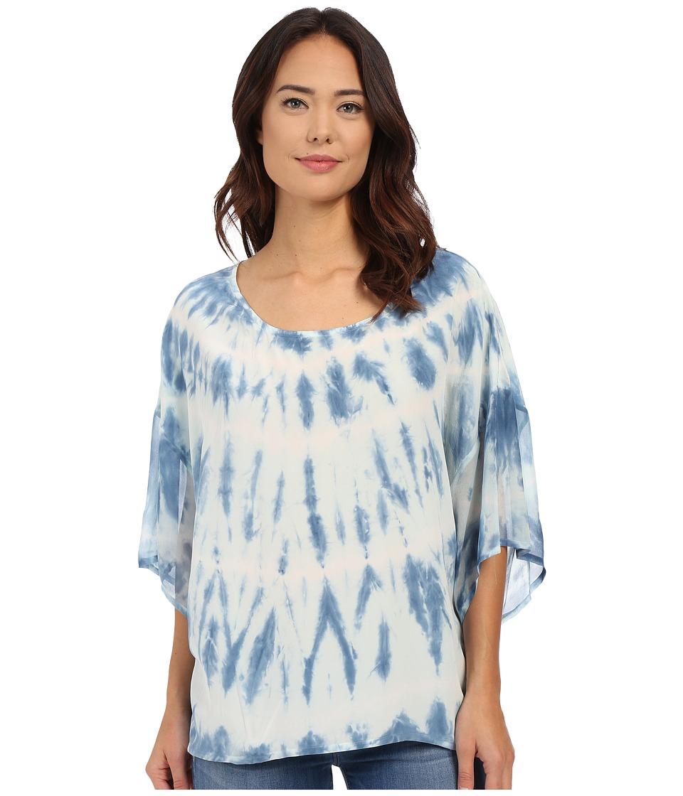 Gypsy05 Silk Dolman Sleeve Easy Tee Aqua Womens T Shirt
