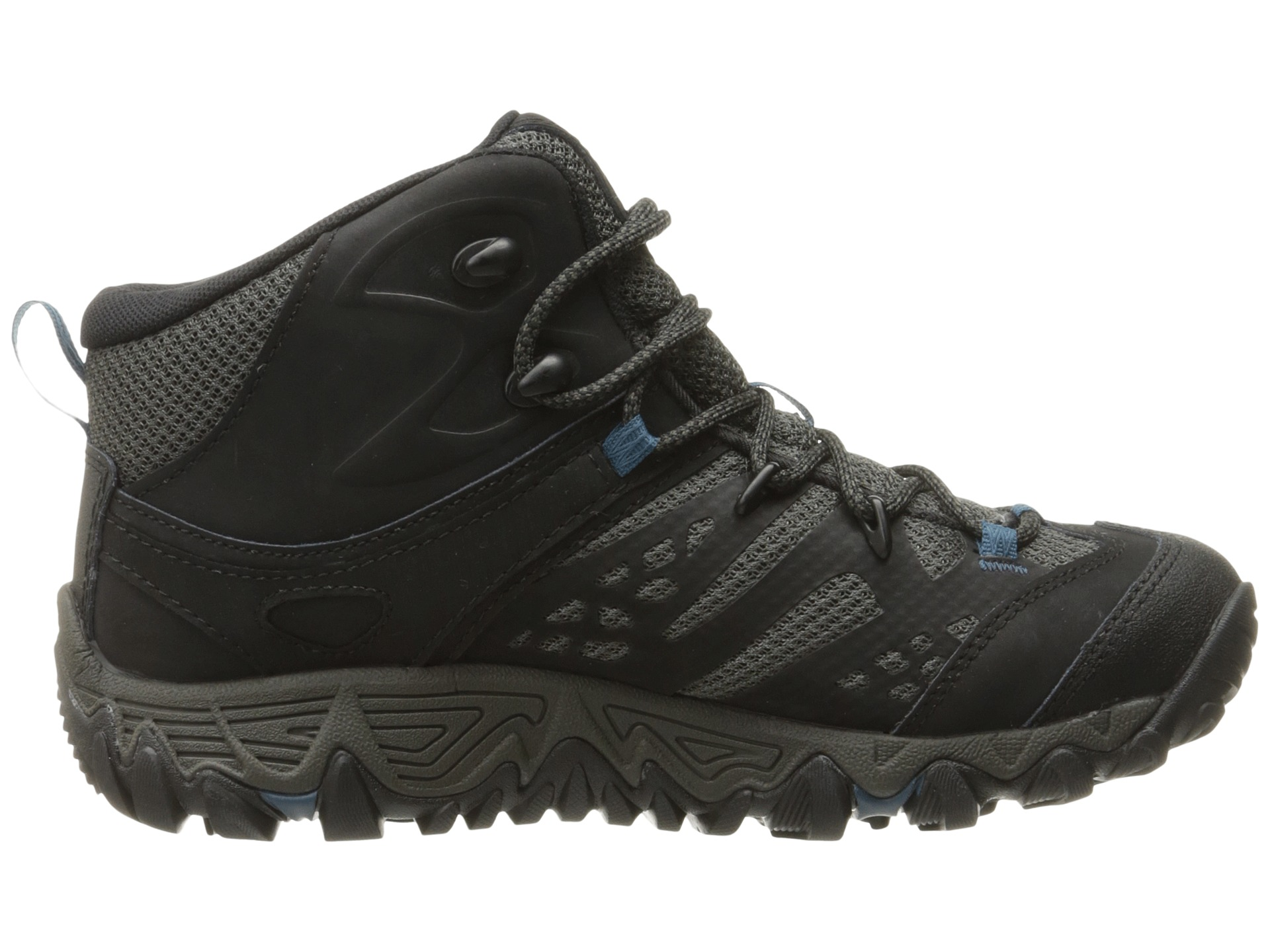 Merrell All Out Blaze Vent Mid Waterproof Black Zappos