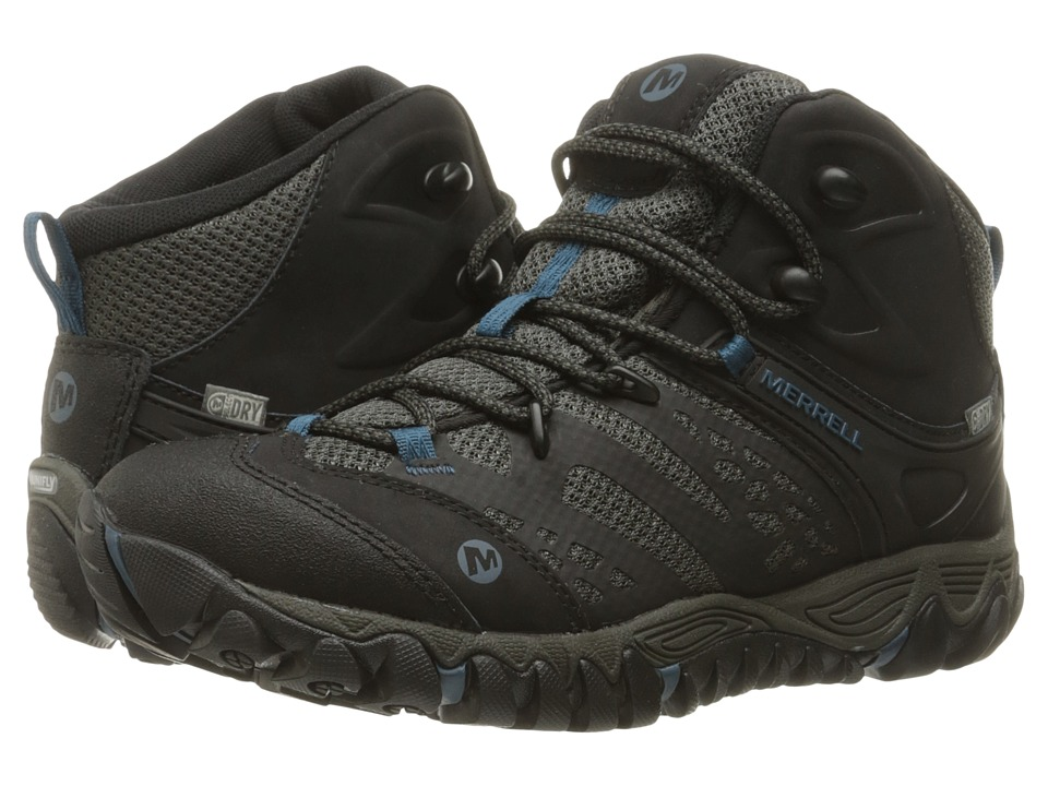 Merrell All Out Blaze Vent Mid Waterproof Black Womens Shoes