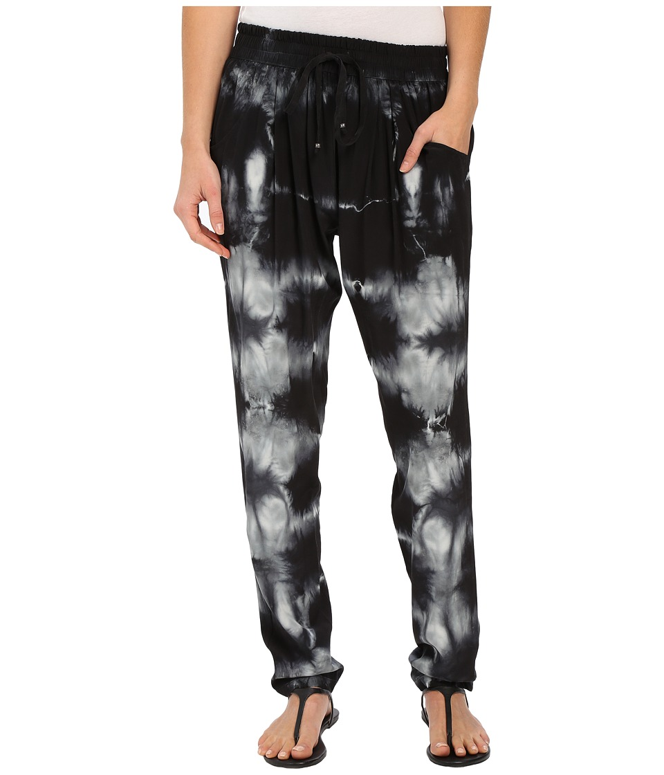 Gypsy05 Silk Perfect Pants with Drawstring Black Womens Casual Pants