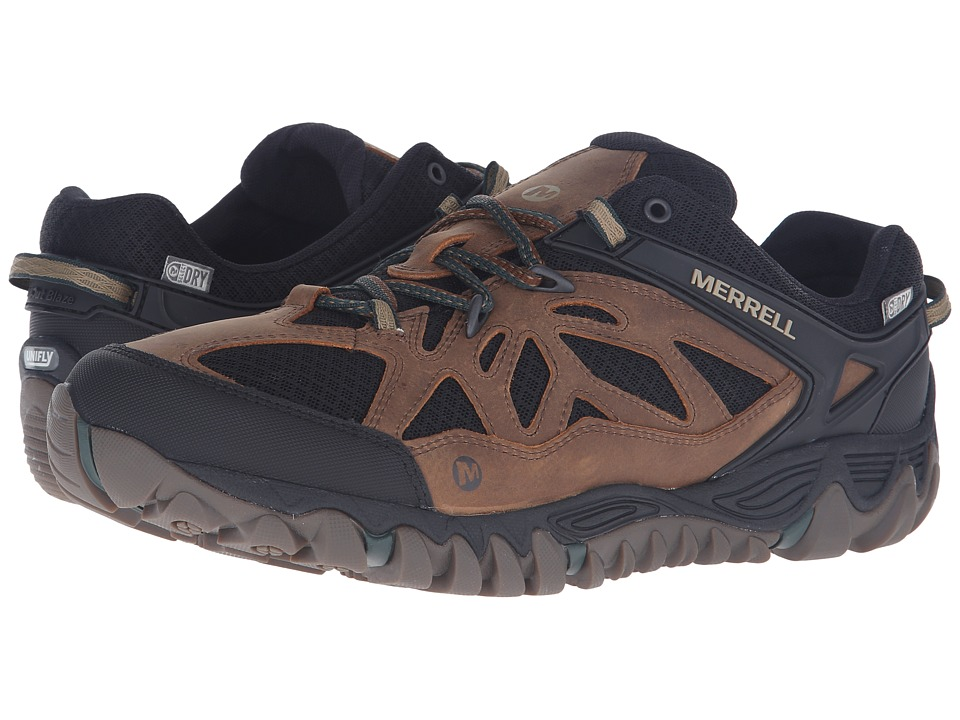 Merrell All Out Blaze Vent Waterproof Merrell Tan Mens Shoes