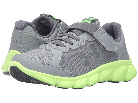 Under Armour Kids UA BPS Assert 6 AC (Little Kid) - Steel/Limelight/Stealth Gray