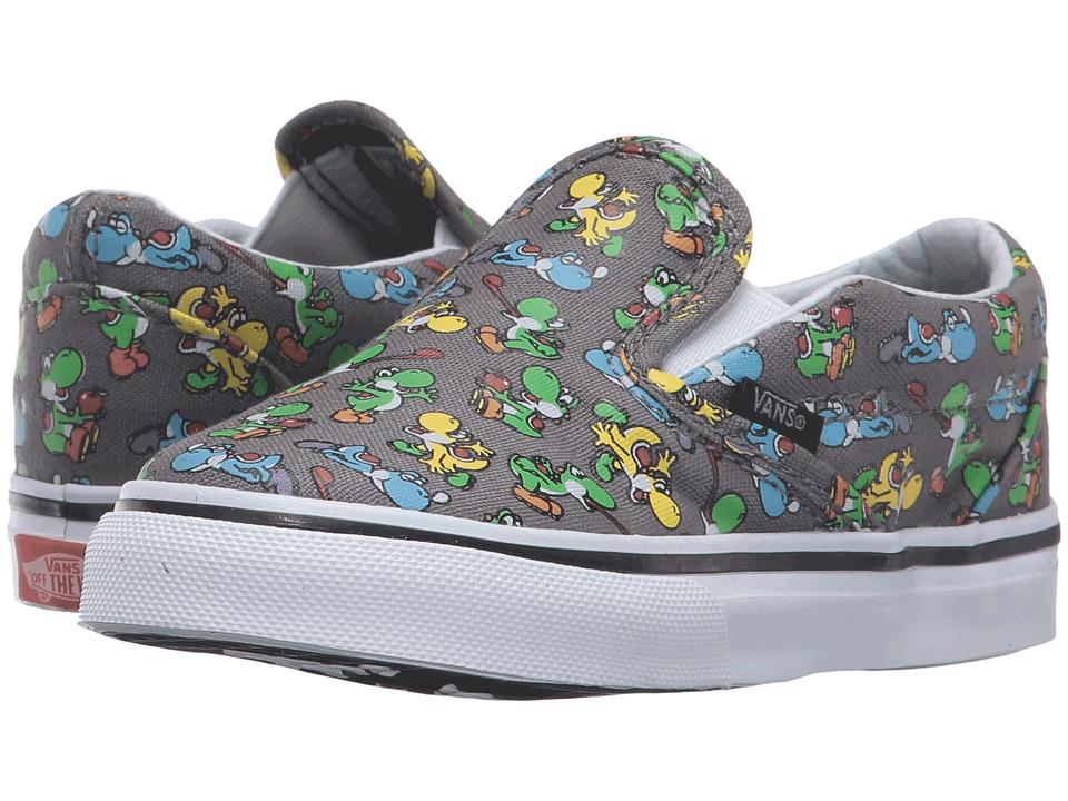 Vans Kids - Classic Slip-On (Toddler) ((Nintendo) Yoshi/Pewter) Boys Shoes
