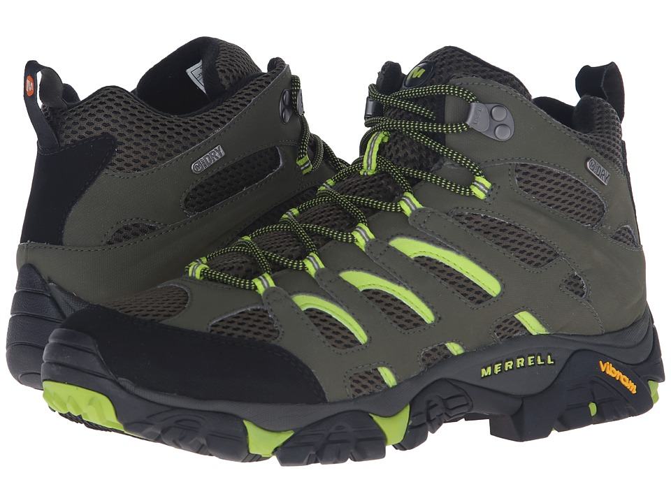 Merrell - Moab Mid Waterproof (Dusty Olive/Black) Men