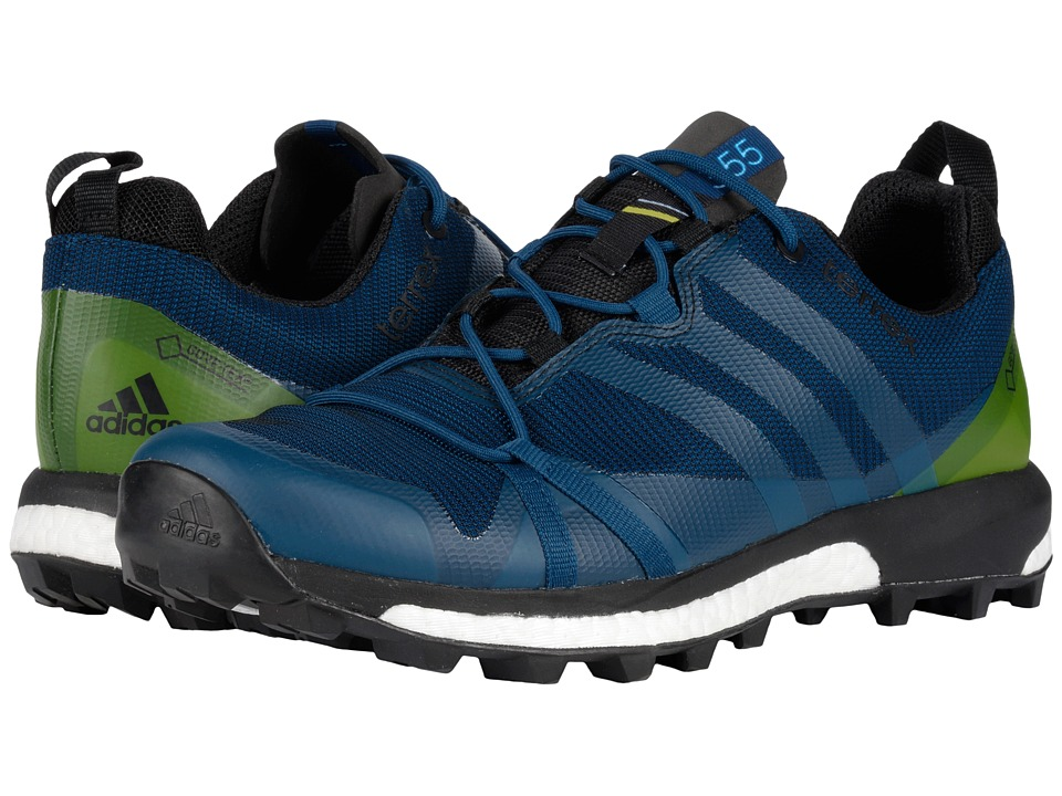 adidas Outdoor Terrex Agravic GTX (Tech Steel/Craft Blue/Unity Lime) Men