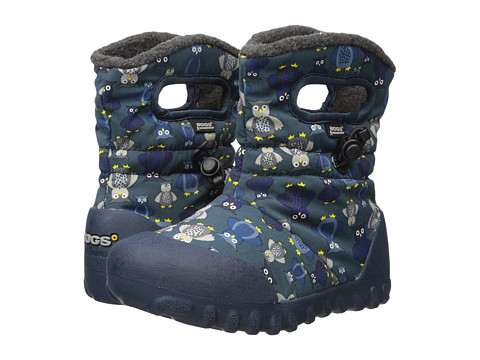 Bogs Kids B-Moc Puff Owls (Toddler/Little Kid) - Navy Multi