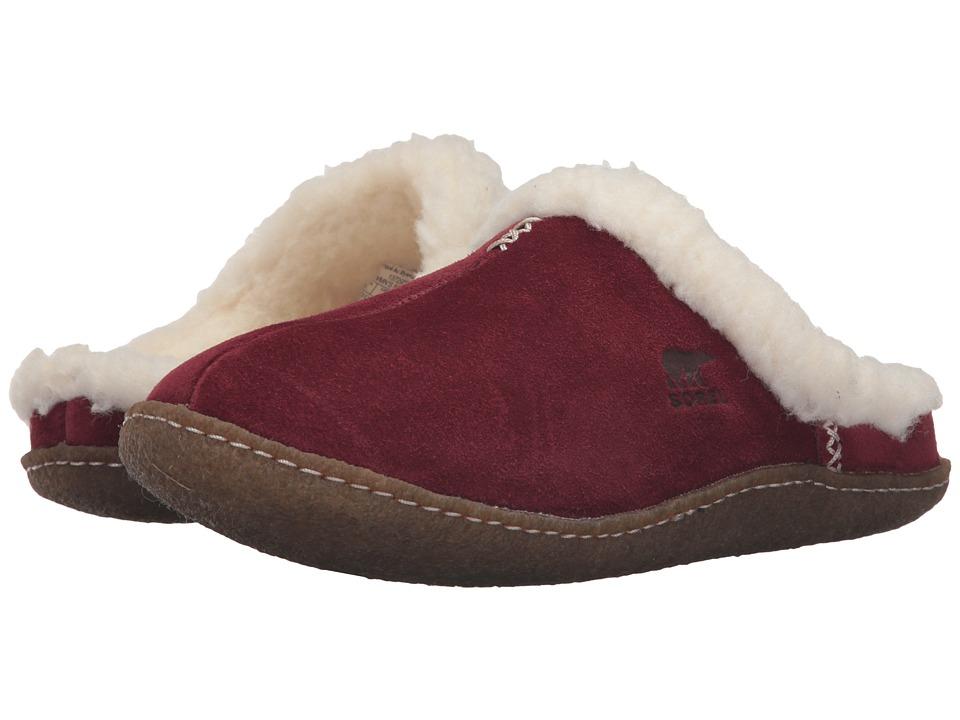 SOREL Nakiska Slide (Garnet Red) Slippers