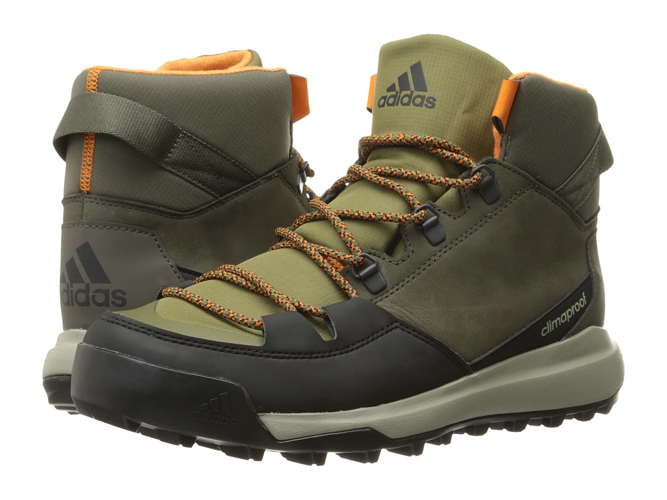 adidas Outdoor - CW Winterpitch Mid CP Leather (Utility Grey/Black/Olive Cargo) Men
