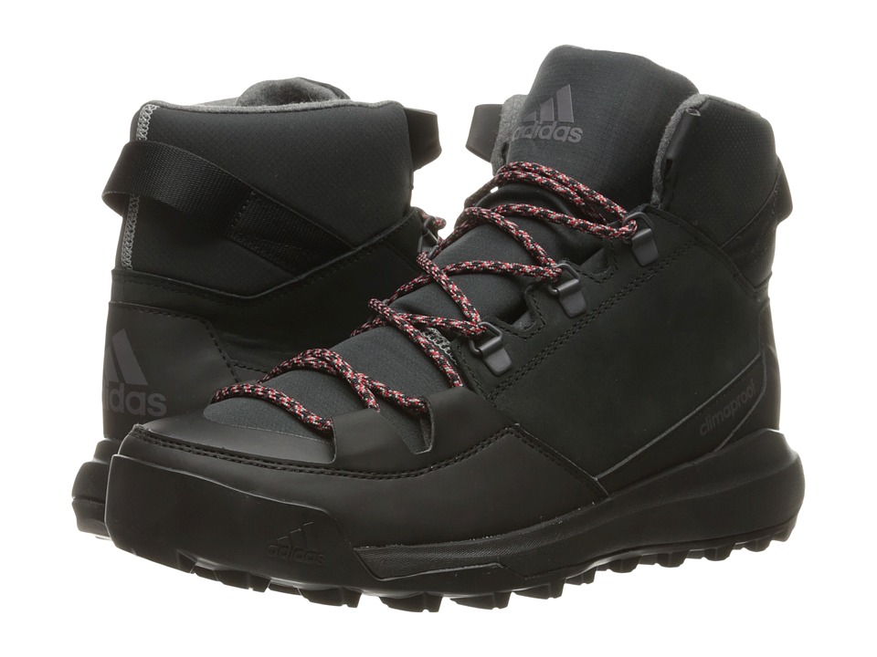 adidas Outdoor - CW Winterpitch Mid CP Leather (Black/Scarlet/Charcoal Solid Grey) Men